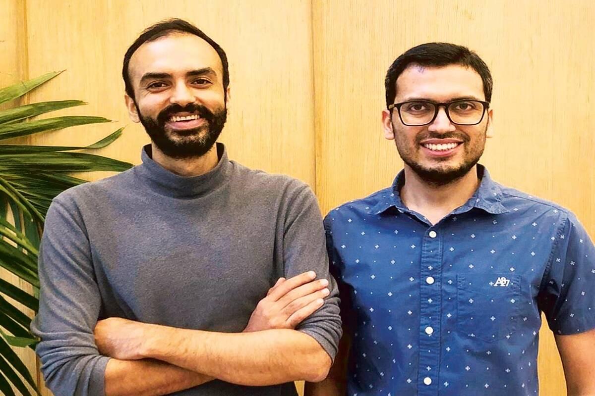 (L-R) Co-founders Saurabh Arora and Abhishek Poddar